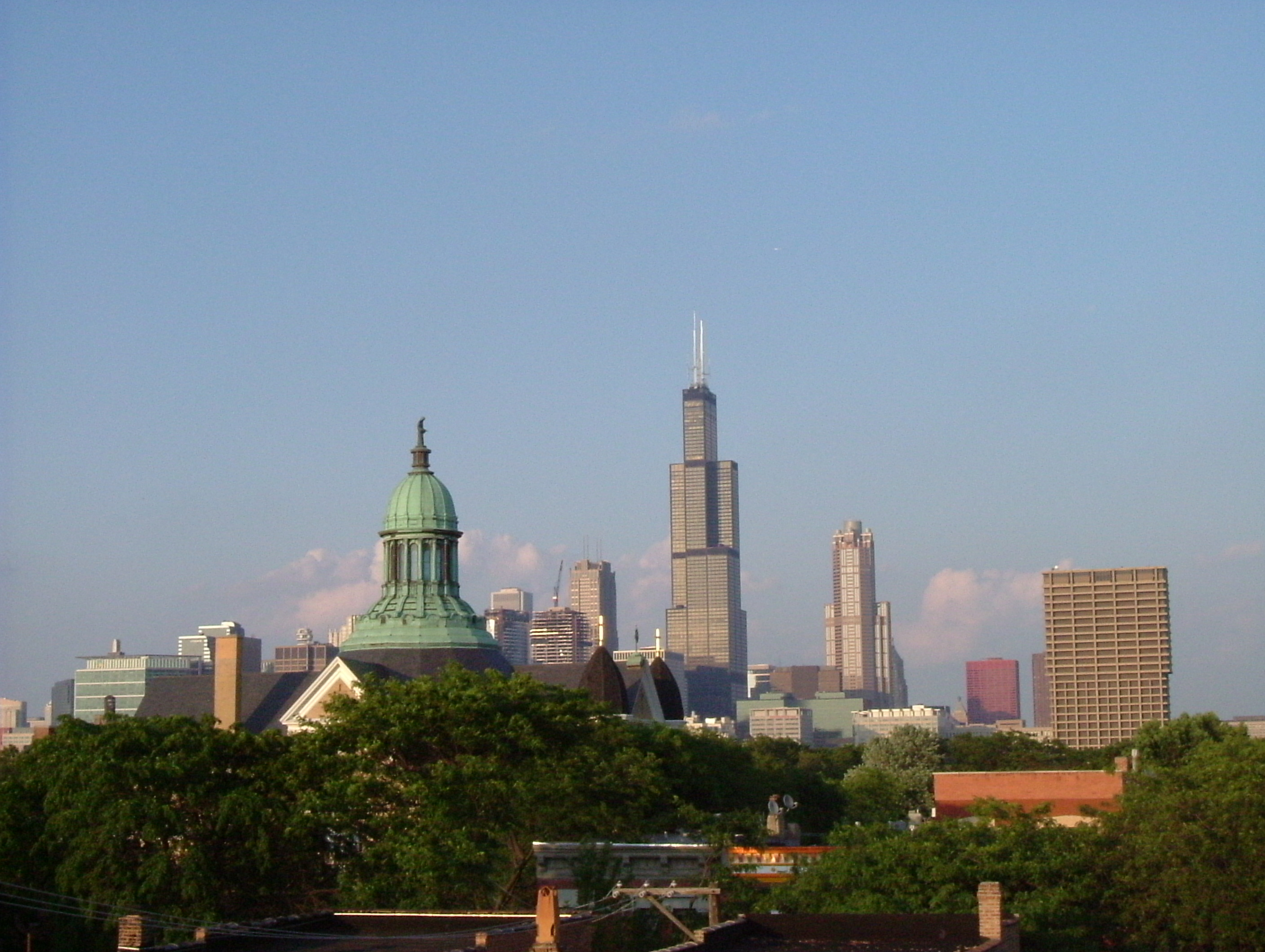 Chicago skyline from my childhood home (apartment building)