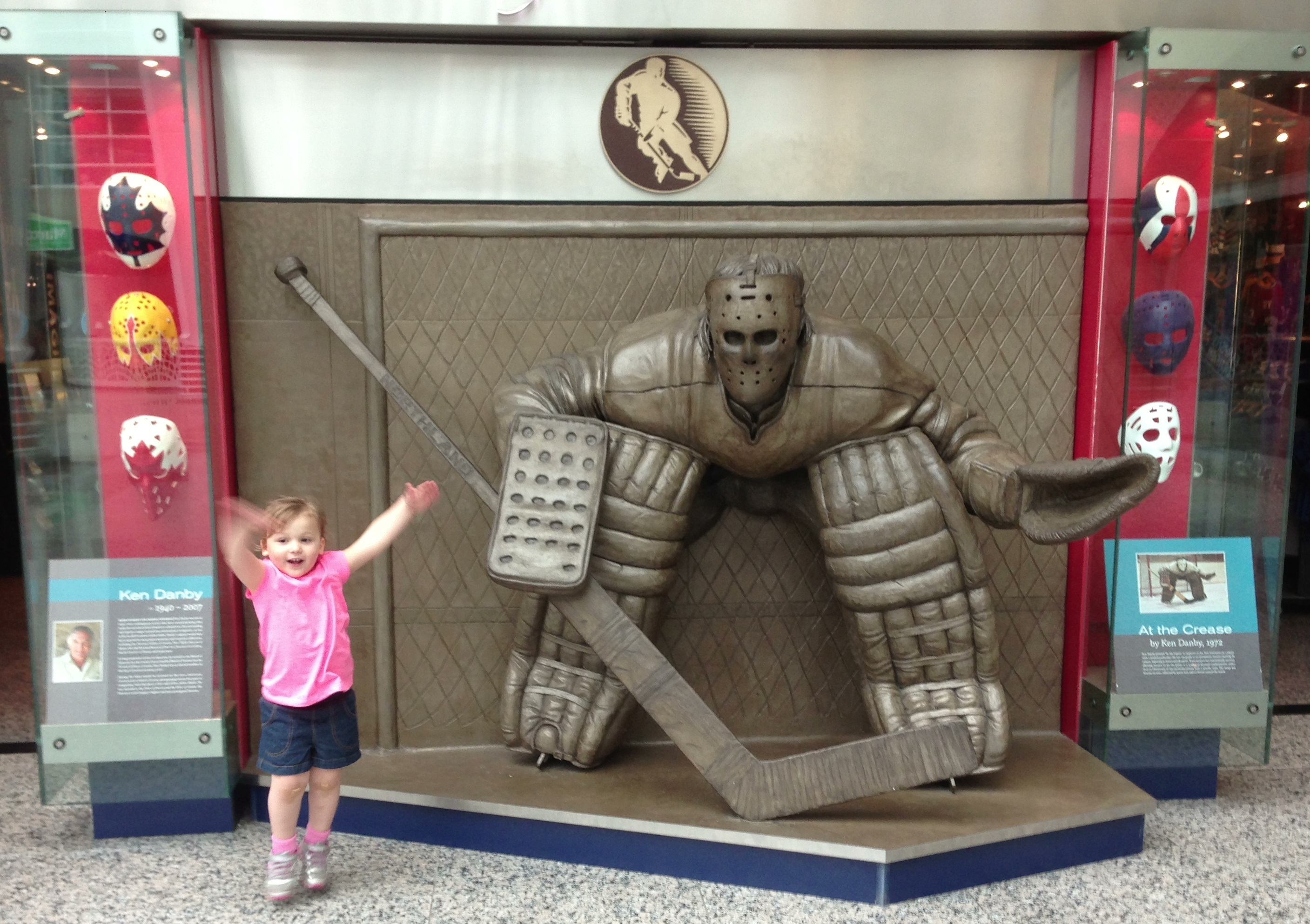 """Daddy, I wanna be a goalie!"""