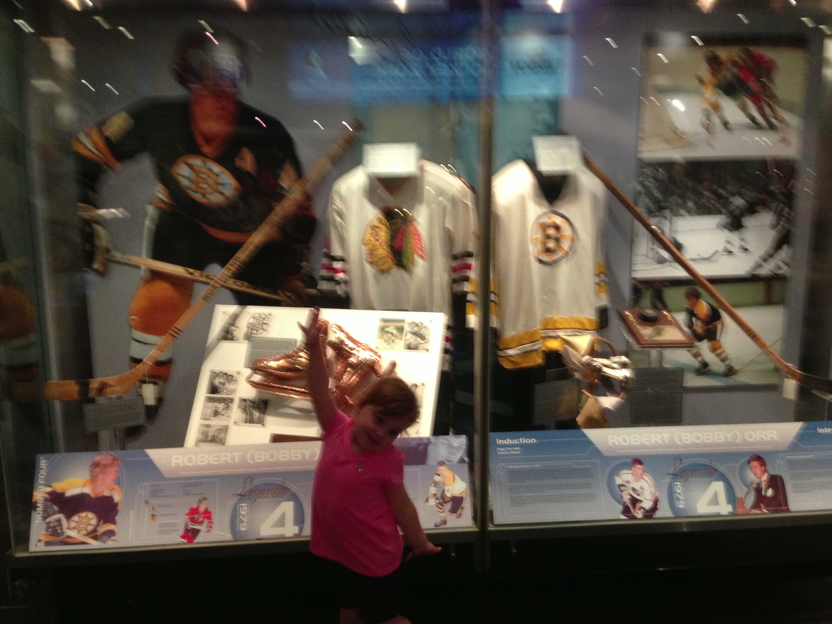 """Look, Daddy, it's Bobby Orr, one of Mommy's favorite players!"""