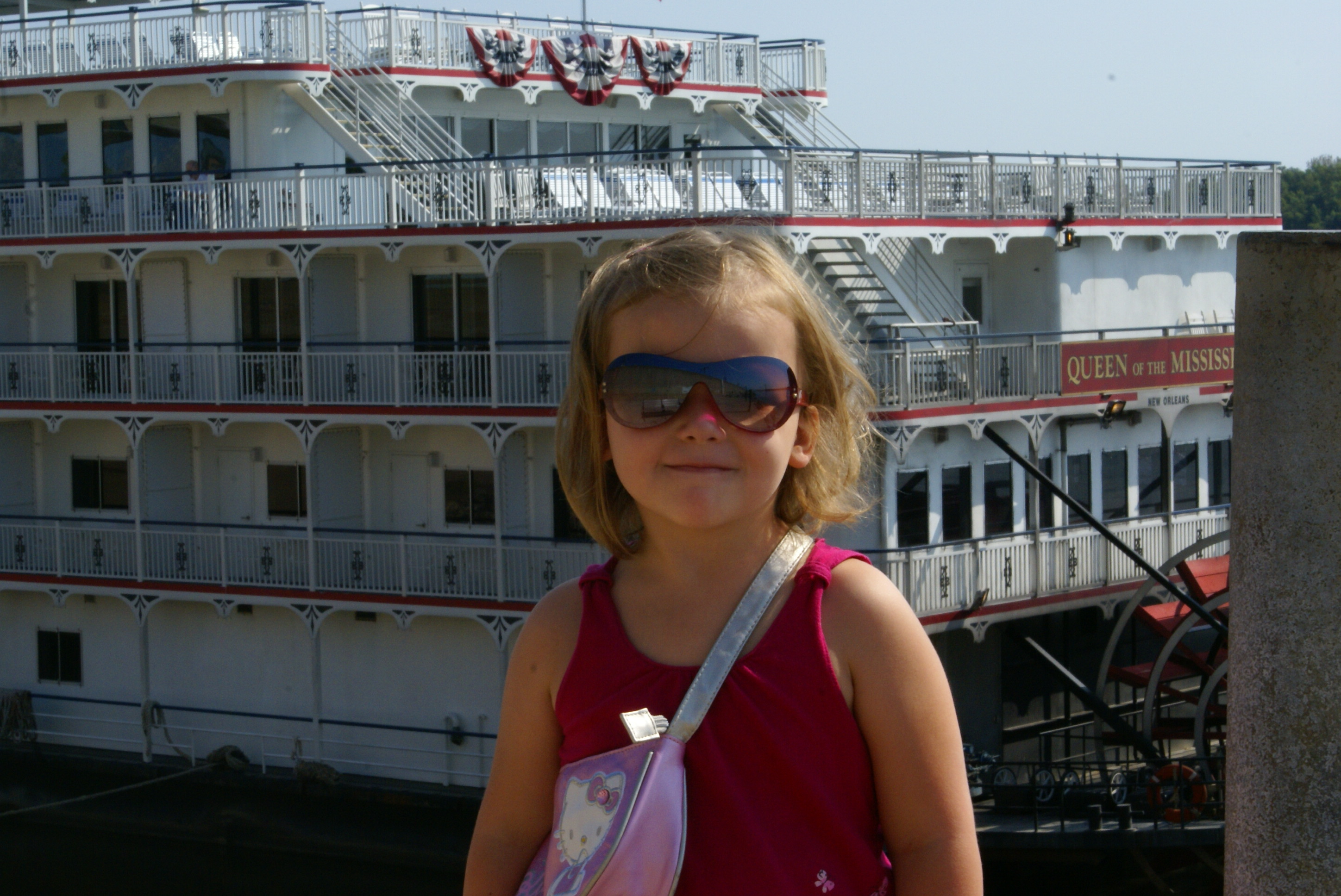 Lucia and Queen of the Mississippi, which was docked in Cape Girardeau during our stay