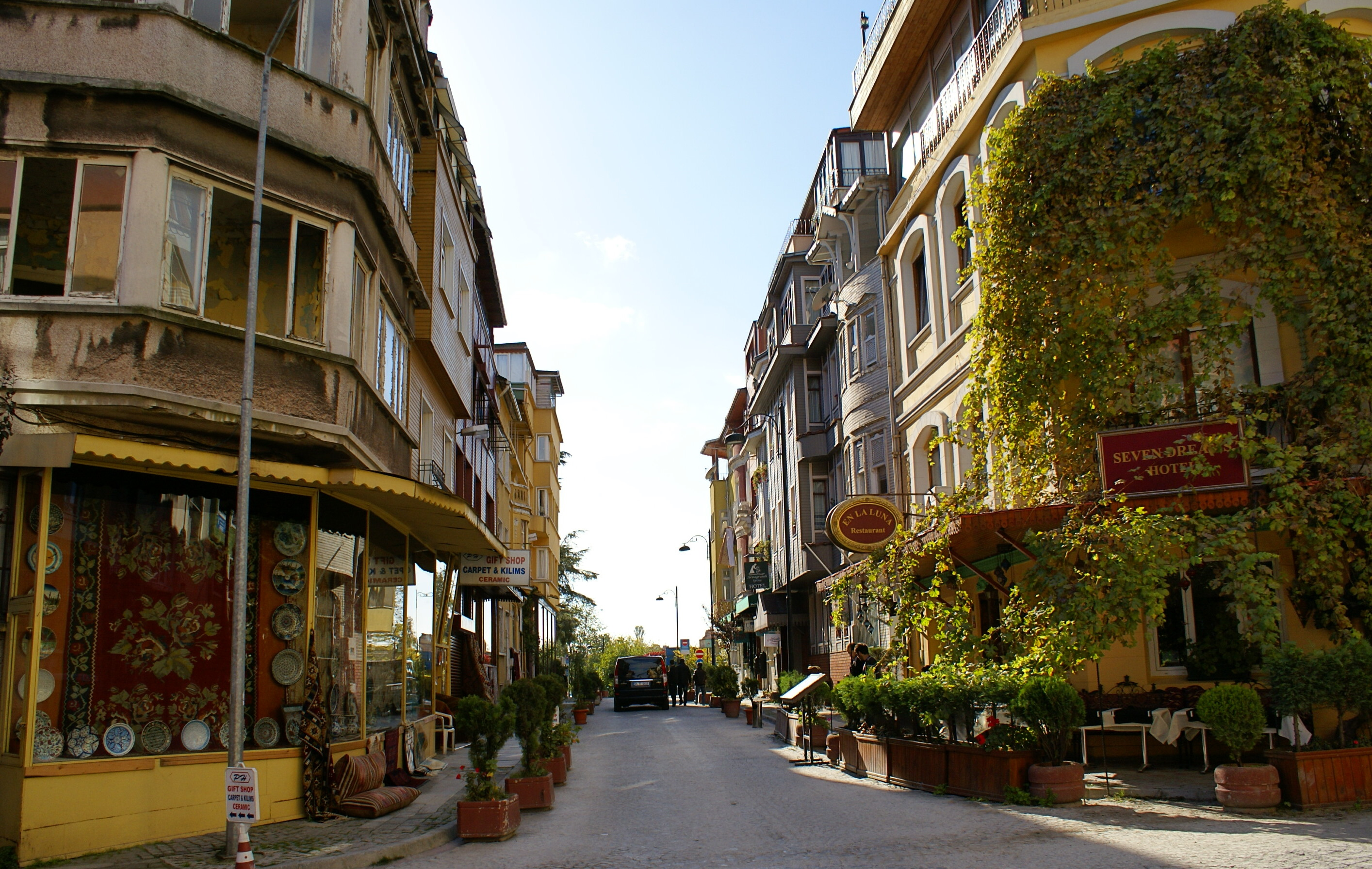 A not-so-busy street in Sultanahmet
