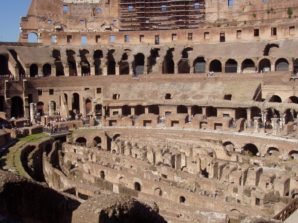 Colosseum in Rome, a former ring of death