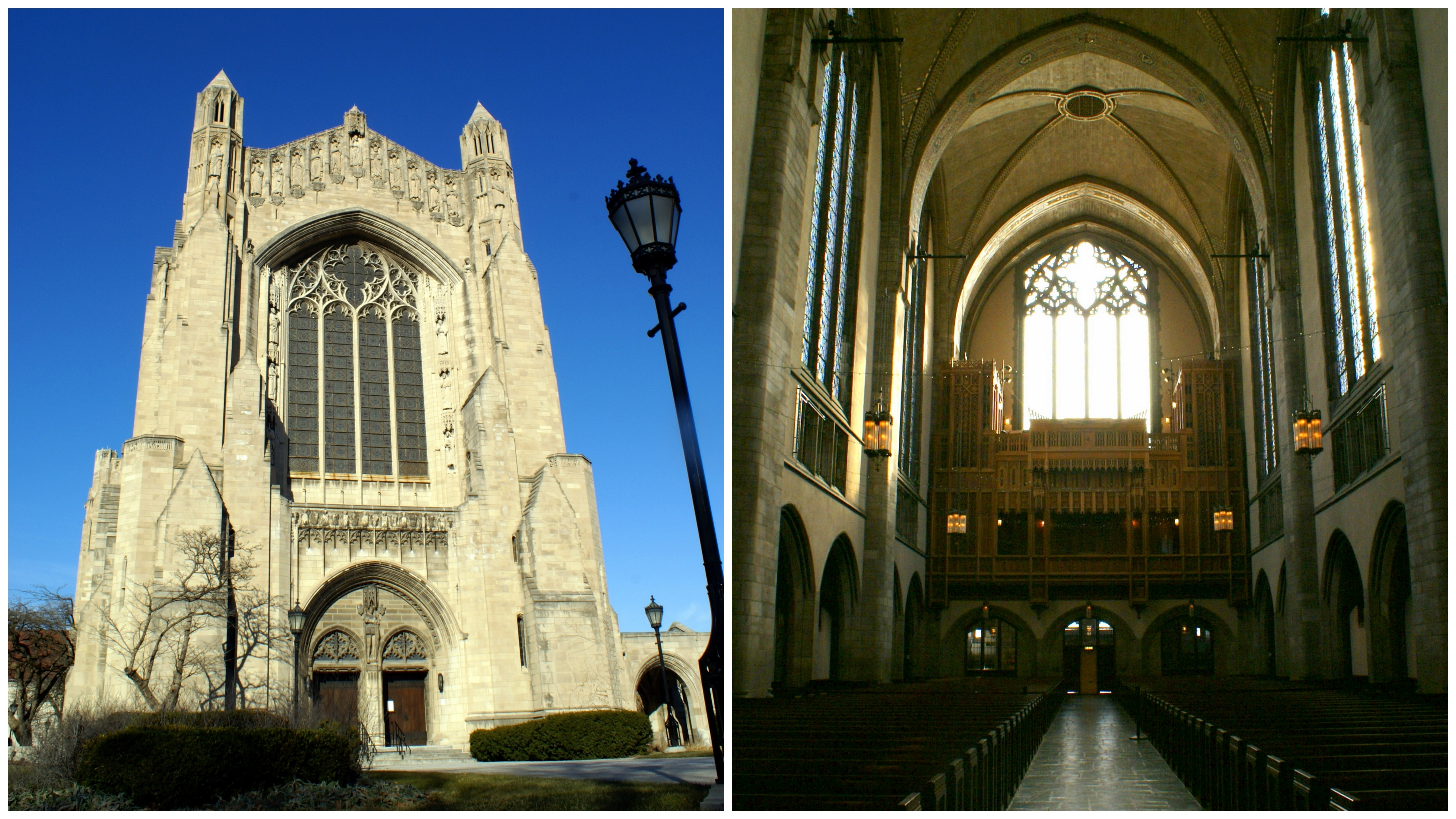 Rockefeller Chapel, outside and in