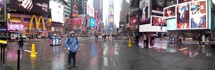 Thanks to Marisa for the panorama shot of me in Times Square!