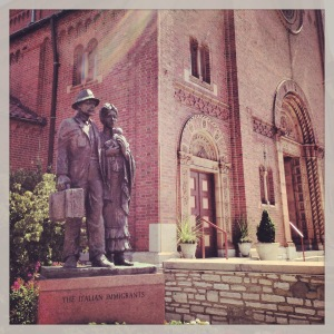 The Italian Immigrants Statue | St. Ambrose Church | The Hill | St. Louis