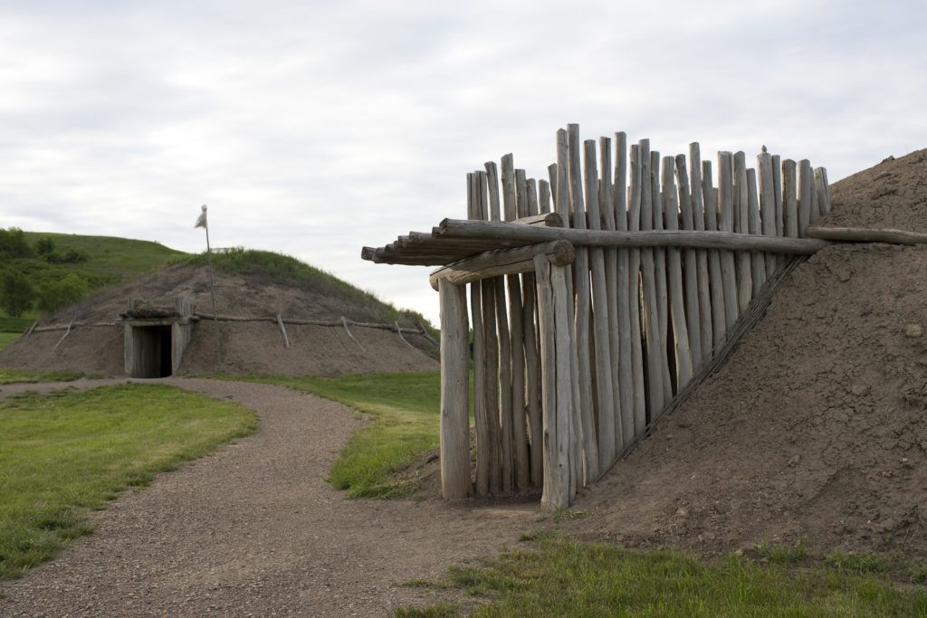 Planning a legendary North Dakota road trip | Earth lodges at Fort Abraham Lincoln State Park
