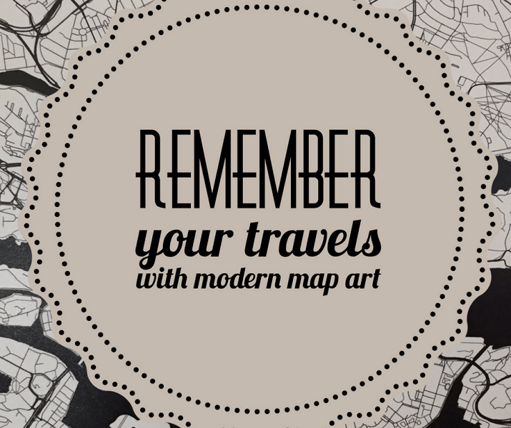 Bringing Stockholm home with Modern Map Art [+ a discount code!]