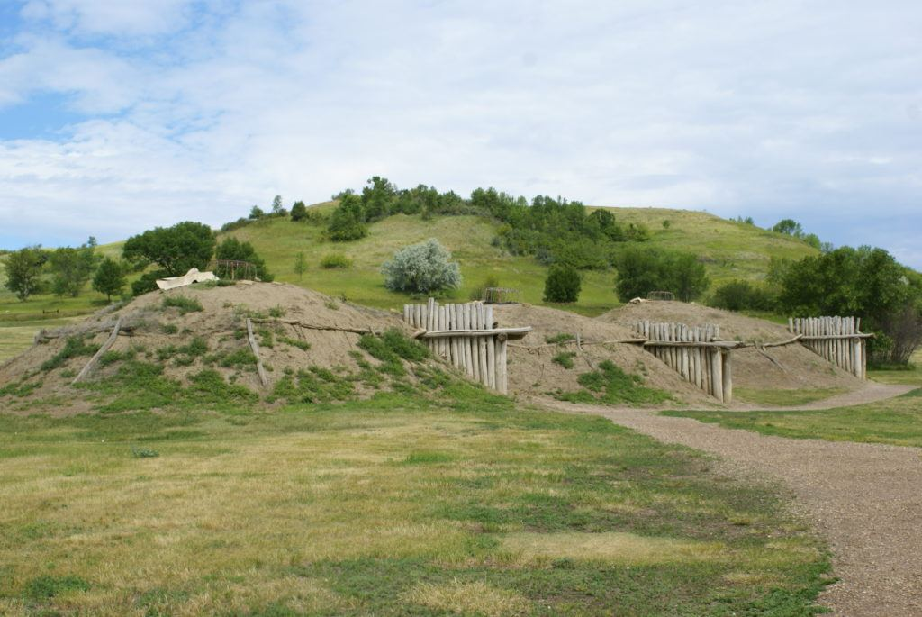 Recreated Mandan Indian village   Fort Abraham Lincoln State Park