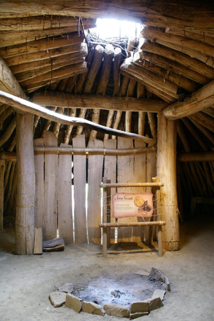 Inside an earth lodge   Fort Abraham Lincoln State Park