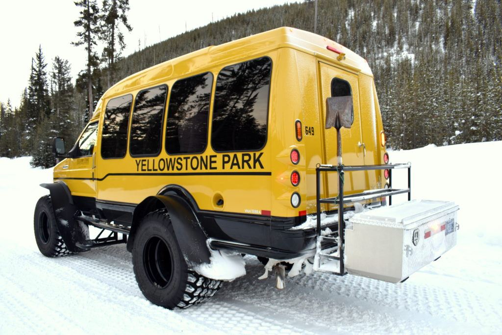 Snowcoach   Visiting Yellowstone in winter