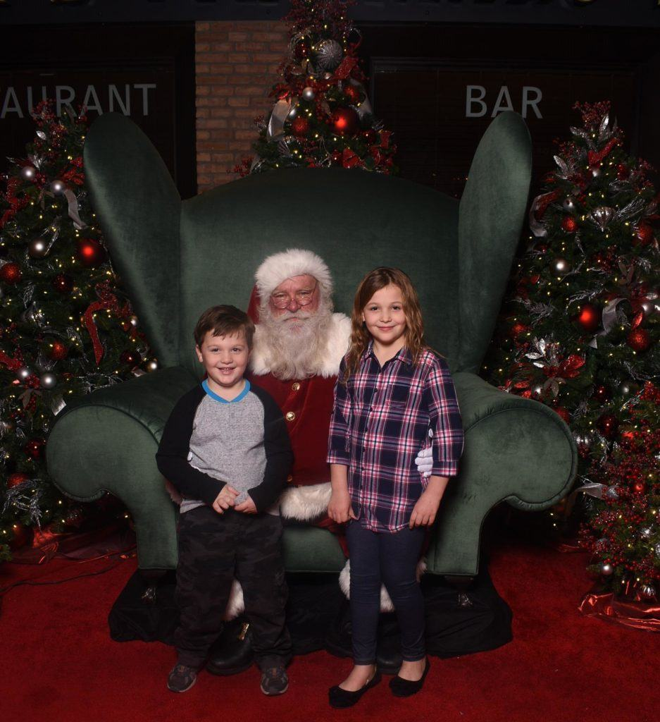 Santa's sleigh ride at Water Tower Place Chicago
