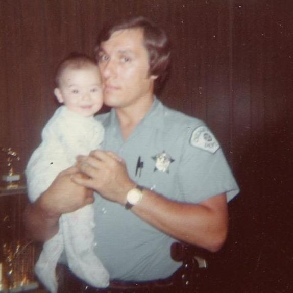 My dad and I, 1974