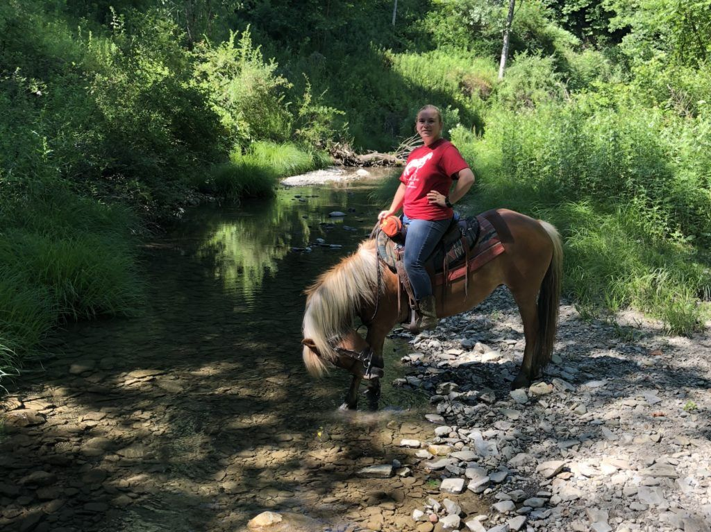 Horseback riding with Painted Bar Stables   Finger Lakes, NY